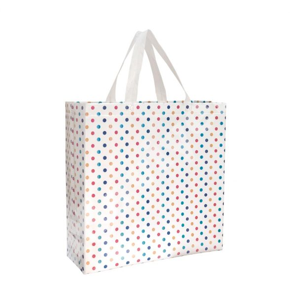HEAT SEALED LAMINATED DOTTED DESIGN STOCK BAG