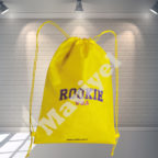 1 - 100% RECYCLABLE NONWOVEN DRAWSTRING BACKPACK - ROOKIE