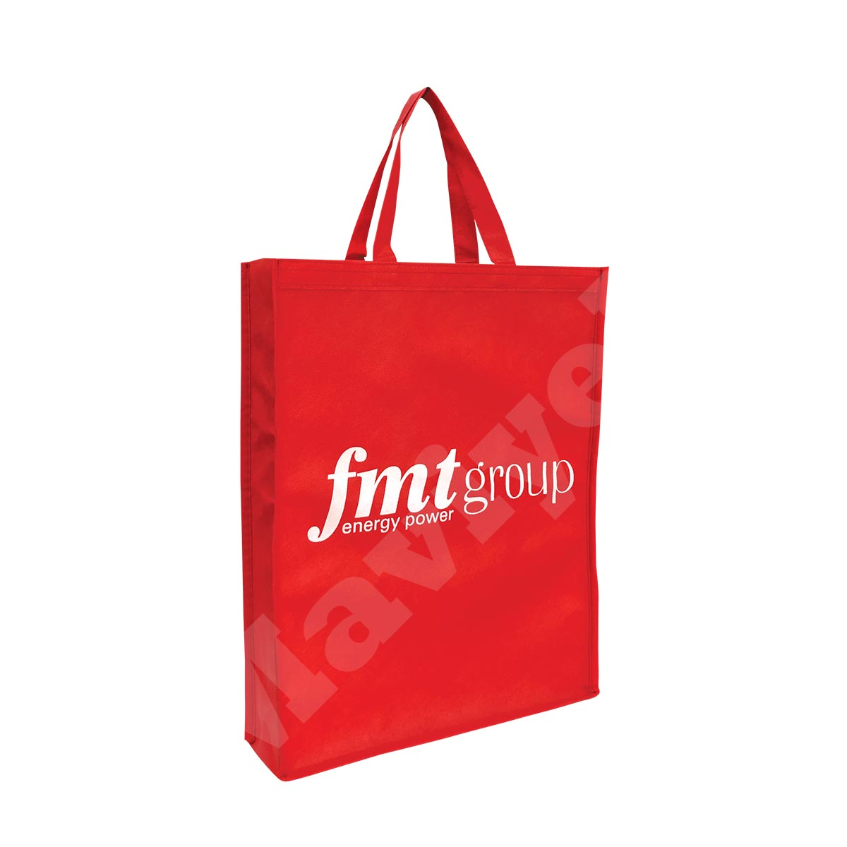 BIODEGRADABLE RED NONWOVEN BAG WITH GUSSETS