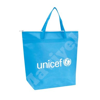ECO FRIENDLY NONWOVEN BAG WITH ZIPPER – UNICEF
