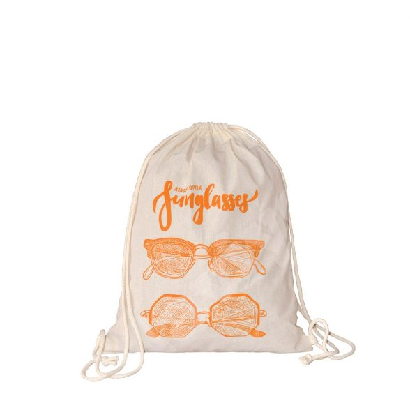 NATURAL COTTON DRAWSTRING BACKPACK – SUNGLASSES