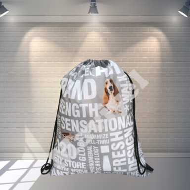 POLYESTER DRAWSTRING BACKPACK WITH FULL PRINTING – HUSH PUPPIES