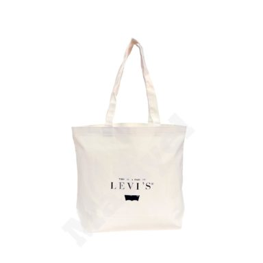 ECO FRIENDLY NATURAL COTTON CANVAS BAG WITH BOTTOM GUSSET – LEVIS