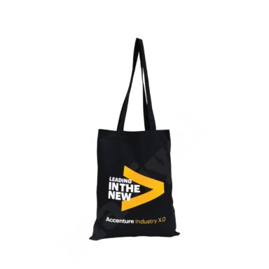 FLAT MODEL BLACK COTTON BAG – LEADING