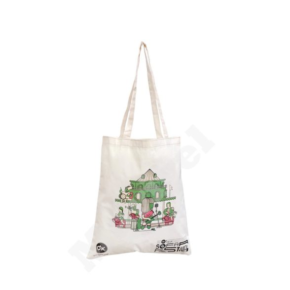 FLAT MODEL NATURAL COTTON BAG – OKEY