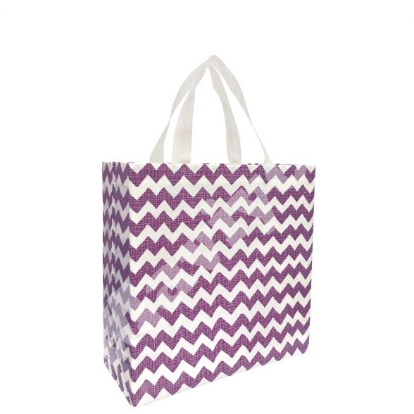HEAT SEALED LAMINATED PURPLE ZIGZAG STOCK BAG